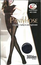 Gemusterte  Blickdichte Strumpfhose 300 DEN Free Size  1348 schwarz