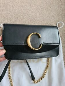 CHLOE C bag clutch With Chain with Receipt