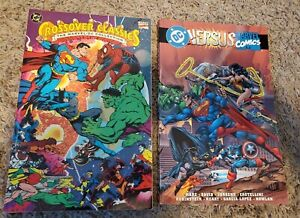 Crossover classics the Marvel/DC collection + DC versus marvel 2 tpb lot Oop