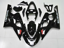 Fit for SUZUKI 2004-2005 GSXR 600 750 Glossy Black ABS Injection Fairings z025