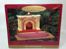 Hallmark Bearingers Flickering Lighted Fireplace 1993 Christmas Ornament