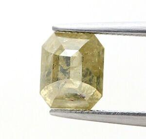 Natural Diamond Real diamond 1.91Ct Banana Yellow Sparkling Radiant Step Cut Gif