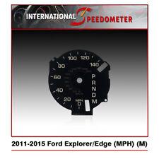2011 - 2015 Ford Explorer & Edge Speedometer Faceplate (MPH) (M)