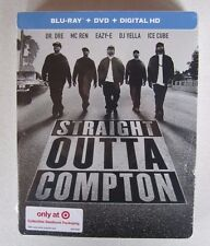 Straight Outta Compton (Blu-ray/DVD) STEELBOOK TARGET EXCLUSIVE NEW SEALED
