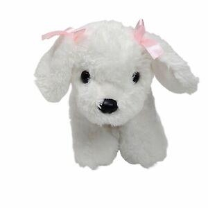 Unipak Puppy Dog White Plush Soft Toy Stuffed Animal Washed and Clean 19cm 2016