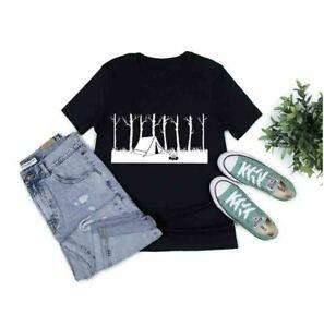 Camping, T-shirts, Summer, Spring,Mountain, Walking,Single House, Forest,Lake !
