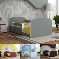 Łóżko dziecięce jednokolorowe z barierką, materacem i szufladą 140x70 lub 160x80