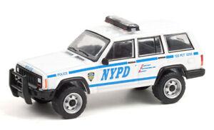 GREENLIGHT 1:64 NEW YORK CITY POLICE DEPT (NYPD) 1997 JEEP CHEROKEE [PRESALE]