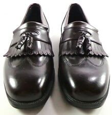 Hush Puppies Wingtip Loafer Mens Burgundy Leather Shoes with Tassels Size 10 M