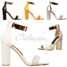 Peep Toes Block Synthetic Upper Formal Heels for Women