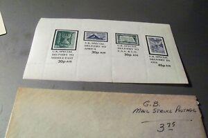 Great Britain Mail strike postage MNH
