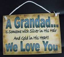 Country Printed Quality Wooden Sign With Hanger Personalized Silver Plaque New