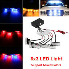 Car SUV LED Strobe Emergency Flashing Police Warning Grill Light 12V Universal