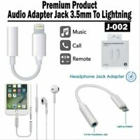 Lightning Audio Jack 3.5mm To Earphone AUX Adapter Cable for Iphone 7 8 X XR