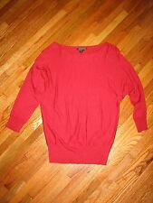 Lauren Ralph Lauren Christmas Holiday Xmas Red 100% Silk Sweater Size Small