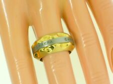 CARRERA Y CARRERA AVALON 18K GOLD & STAINLESSSTEEL BAND/RING - SIZE 6.5 - NEW!!