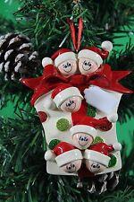 ALBERO di Natale personalizzata Decorazione Ornamento Regalo Glitter famiglia di 6