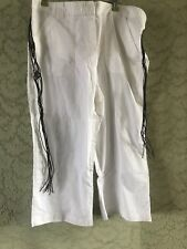 Bnwt Size 16 Bhs White Cropped 100% Cotton Cruise Summer Hoilday