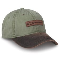 Chevrolet Bowtie Leather Patch Green Unstructured Hat