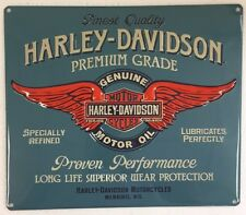 Ande Rooney HARLEY DAVIDSON GENUINE DUTY Motor Oil Tin Garage HD Motorcycle Sign