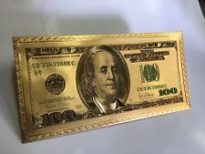 New listing 25 Pieces Gold Foil Plated $100 Gold Dollar Bill Envelope Banknote