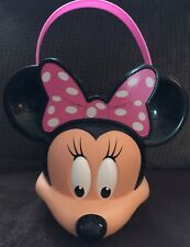 Minnie Mouse Candy Toy Bucket Pail Disney Halloween Trick Or Treat Plastic