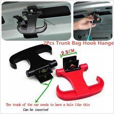 2Pcs Portable Car Trunk Bag Cargo Hook Hanger Holder Ox Horn Useful