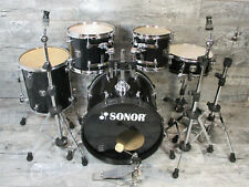 Sonor Sonic Plus 20,10,12,14,14  Black Schlagzeug & HW Made in Germany