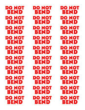 2do Not Bend X30 Labels Per Sheet Stickers Shipping Fragile Handling Packing