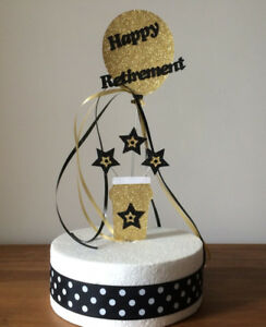 Cake Topper Decoration Retirement Beer Glass Balloon and Stars All Colours