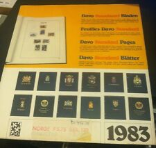 DAVO ALBUMS Stamp Album Pages NORGE F5,75 B FR. 120 NEW High Quality RARE