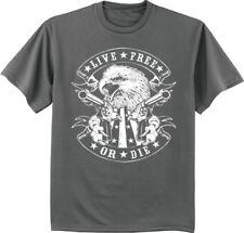 Sale: 2XLT - Big and Tall T-shirt 2nd amendment live free or die tee Bigmen