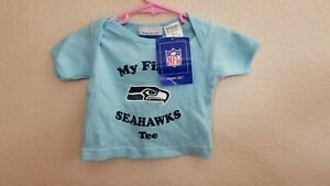 """Seattle Seahawks """"My First Seahawks Tee"""" NWT Reebok Size 3/6 Months 100% Cotton"""