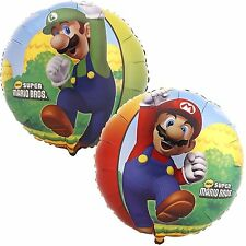 "4x 18"" Super Mario & Luigi Happy Birthday Foil Mylar Balloon Party Decoration"