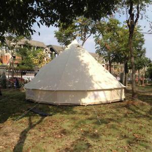 HayWHNKN 3 Meter Bell Tent Outdoor Large Glamping Camping Teepee Waterproof US