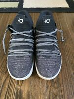 Nike Zoom KD10 Oreo Black White Grey Kevin Durant 918365 001 GS 7Y Youth Shoes