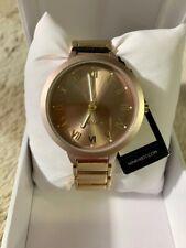 Nine West NW2310 Black Dial Gold Tone Stainless Steel Bracelet Ladies Watch