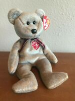 1999 Signature Bear Ty Beanie Baby – Retired/Vintage, Ships FREE, RARE, & MINT !