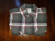 Genuine Dickies Small S 34-36 Multi-Color Plaid L/S Button Up Mens Flannel Shirt