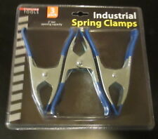 3 PC  6 INCH METAL SPRING CLAMP SET - LOT OF 2 SETS (6 CLAMPS) NIB