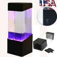Aquatic Jellyfish Volcano Tank LED Water Lamp Aquarium Night Light Xmas Gift
