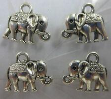 wholesale 25pcs Retro Style alloy  Tibet silver calf elephant pendant 14x12mm