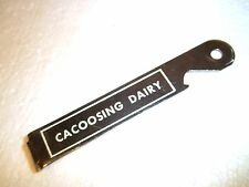 old vintage advertisement CACOOSING DAIRY bottle opener can opener