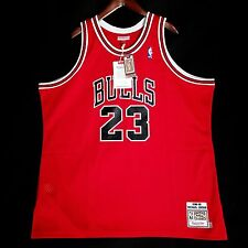 100% Authentic Michael Jordan Mitchell Ness 88 89 The Shot Bulls Jersey 56 3XL