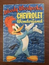 WOODY WOODPECKER in CHEVROLET WONDERLAND RARE GIVEAWAY PROMO COMIC DELL 1954 NN