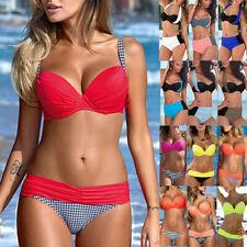 New listing Sexy Womens Ladies Brazilian Push Up Bra Bikini Swimsuit Swimwear Swimming Suit