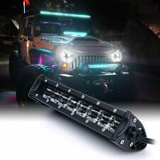 "Xprite C8 Series 48W 9.5"" Double Row LED Spot Light Bar with Blue Back Light"