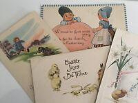 vintage easter postcards lot  4 ,Dutch Kids, Chicks Bunny Rabbits Barton Spooner