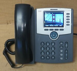 Cisco SPA525G 5-Line PoE IP Phone Business Desktop Display Telephone With Stand
