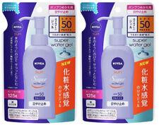 Kao NIVEA SUN Super Water Gel Sunscreen SPF50 PA+++ 125g Refill from Japan ×2